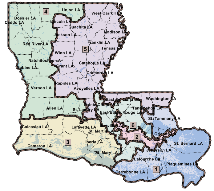 Map Of Us Senators.Southwest Louisiana Legislators District Maps La State